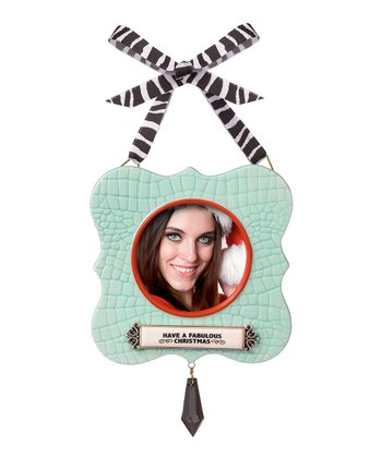 Blue 'Fabulous Christmas' Frame Ornament