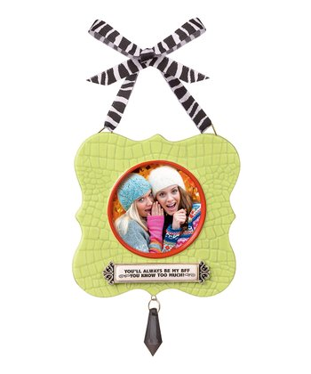 Green 'Always Be My BFF' Frame Ornament