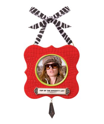 Red 'Naughty List' Frame Ornament