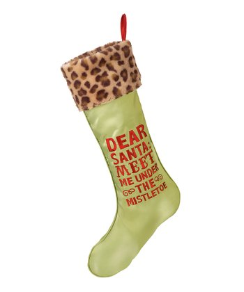 Green 'Under the Mistletoe' Stocking
