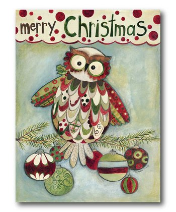 Christmas Owl Canvas