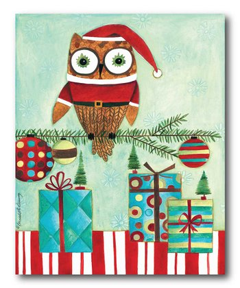 Santa Owl Canvas
