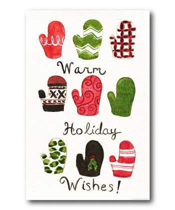 'Warm Holiday Wishes' Canvas
