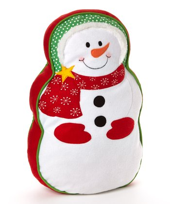 Red & White Snowman Pillow