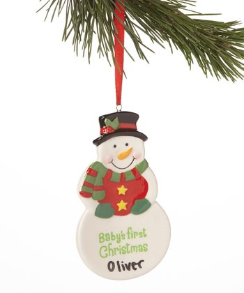Red Bib 'First Christmas' Ornament