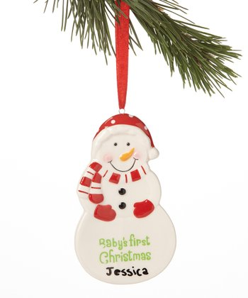 Red Hat 'First Christmas' Ornament