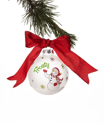 'Frosty' Snowman Ball Ornament