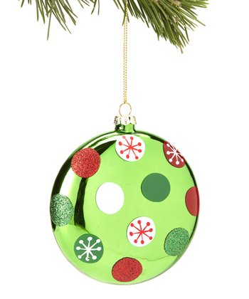 White & Red Polka Dot Ornament