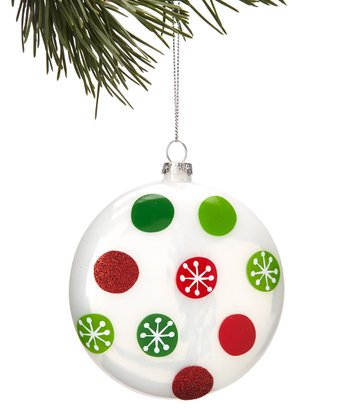 Green & Red Polka Dot Ornament