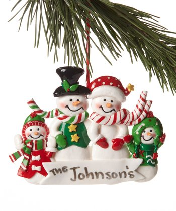 Snowman Family Ornament Set