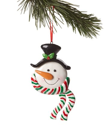 Top Hat Snowman Head Ornament