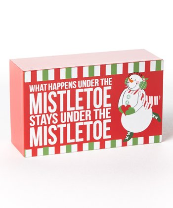 'Mistletoe' Holiday Box Sign