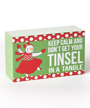 'Keep Calm' Holiday Box Sign