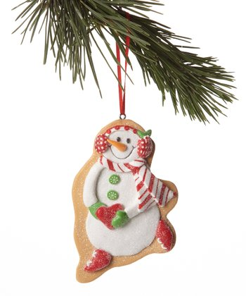 Earmuffs Snowman Cookie Ornament