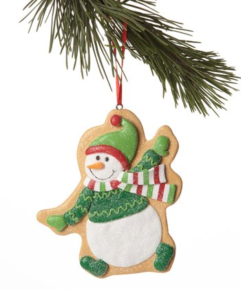 Green Sweater Snowman Cookie Ornament