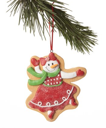Red Snowman Cookie Ornament