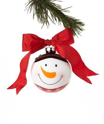 Top Hat Snowman Face Ornament