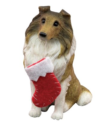 Holiday Collie Ornament