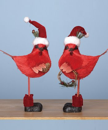 Holiday Cardinal Figurine Set
