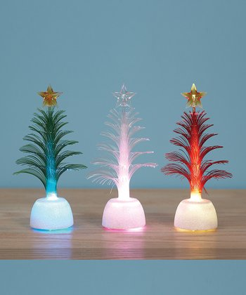 Fiber Optic Christmas Tree Set
