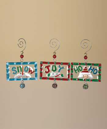 Holiday Sentiment Ornament Set