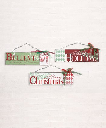 'Believe' Holiday Wall Art Set