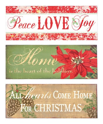 'Peace' Inspirational Wall Art Set