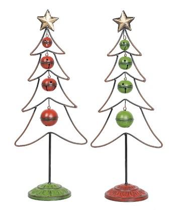 Jingle Bell Metal Tree Set