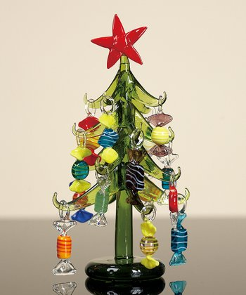 Glass Christmas Tree & Ornament Set
