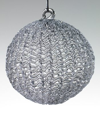 Glass Round Ornament - Set of Four