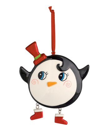 Red Hat Cheery Penguin Ornament