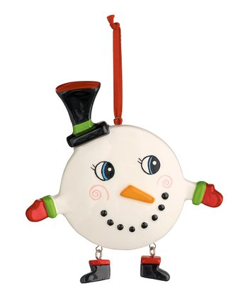 Top Hat Cheery Snowman Ornament