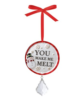 'You Make Me Melt' Round Ornament