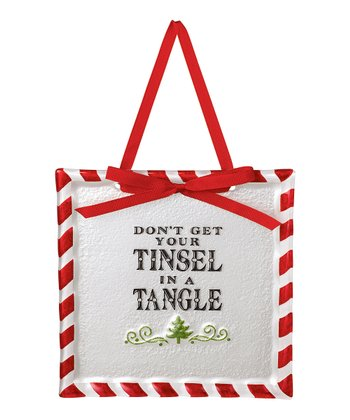 'Tinsel in a Tangle' Placard Ornament