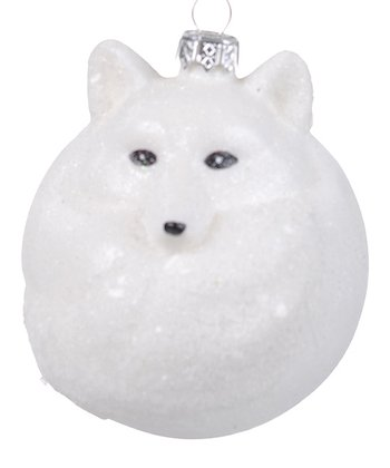 Frosted Fox Ornament