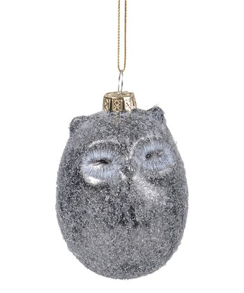Frosted Owl Ornament