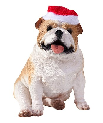 Santa Hat Bulldog Ornament