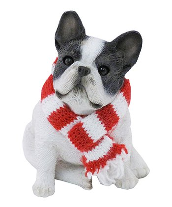 Scarf French Bulldog Ornament
