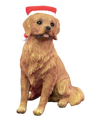 Santa Hat Golden Retriever Ornament