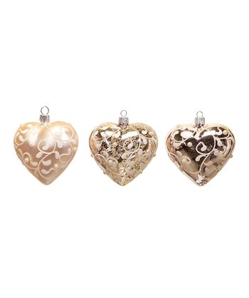 Pink Heart Ornament Set