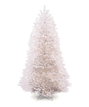 White 7.5' Dunhill Fir Lighted Tree