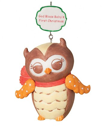Owl 'Baby's First Christmas' Ornament