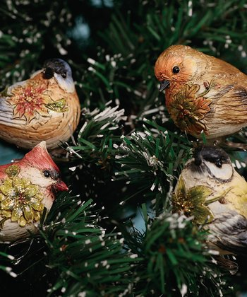 Holiday Bird Clip Ornament Set