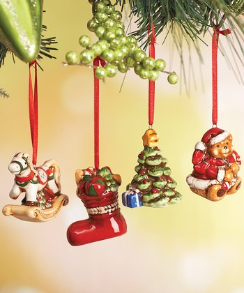 Old-Fashioned Christmas Ornament Set