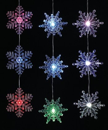 LED Snowflake Ornament Set