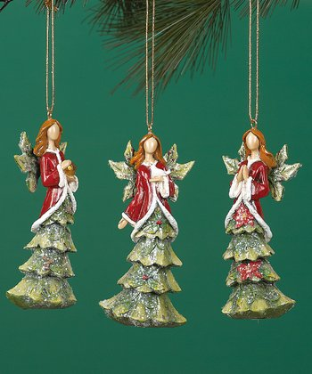 Tree Angel Ornament Set