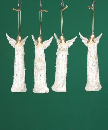 Sparkle Angel Ornament Set