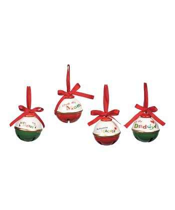 Sentiment Jingle Bell Ornament Set
