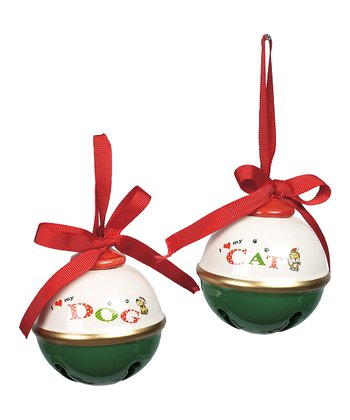 Pet Sentiment Jingle Bell Ornament Set