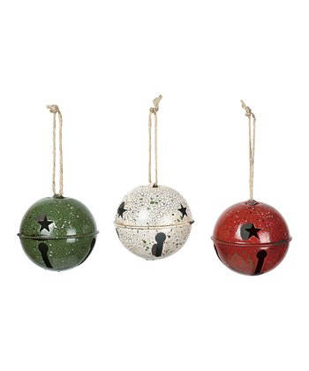 Crackle Bell Ornament Set